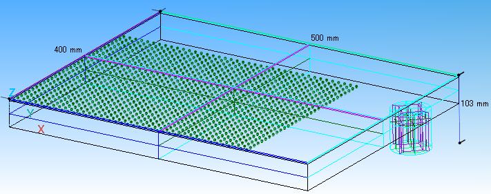 Fig. 1 計算モデル(3次元:1/4モデル)