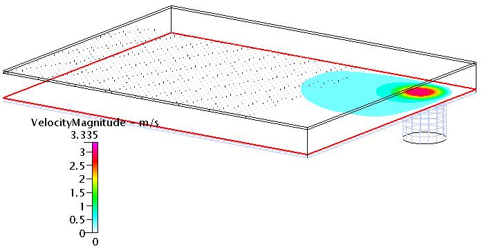 Fig. 7 速度コンター(Z断面-3)