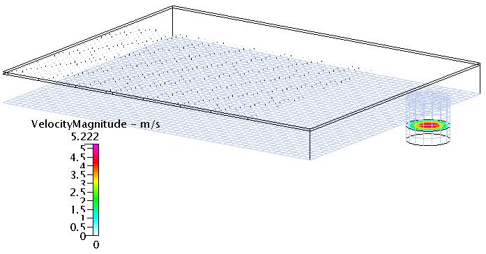 Fig. 8 速度コンター(Z断面-4)