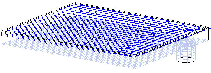 Fig. 3 速度ベクトル(showehead の直ぐ下)