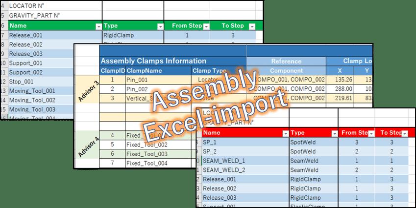 【Visual-Assembly】エクセルによる条件設定