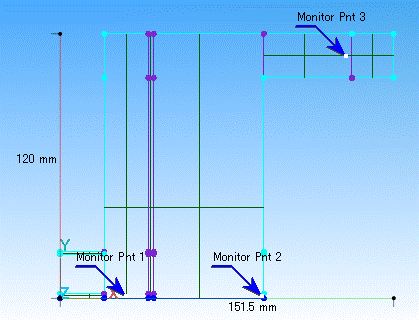 Fig. 3 圧力と Ar・O2 の mass fraction をモニターする箇所
