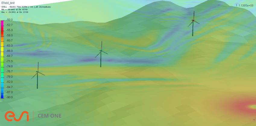 ウィンドファームによるVOR信号への電波干渉評価機能
