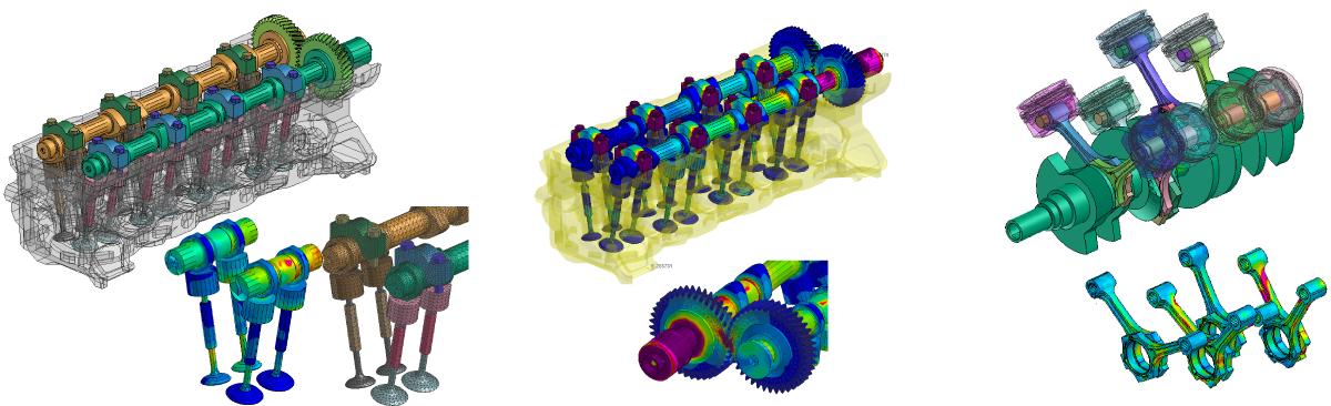 作動状態を再現した動的応力解析