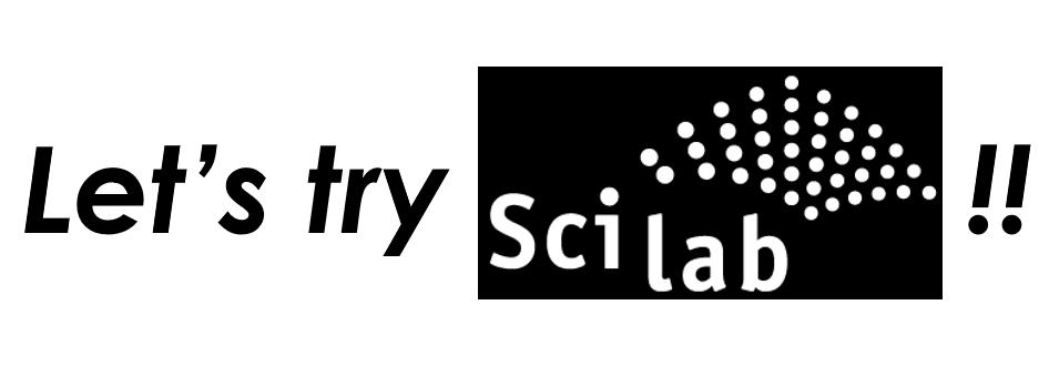 Scilabによる計算結果の処理 - 体験編